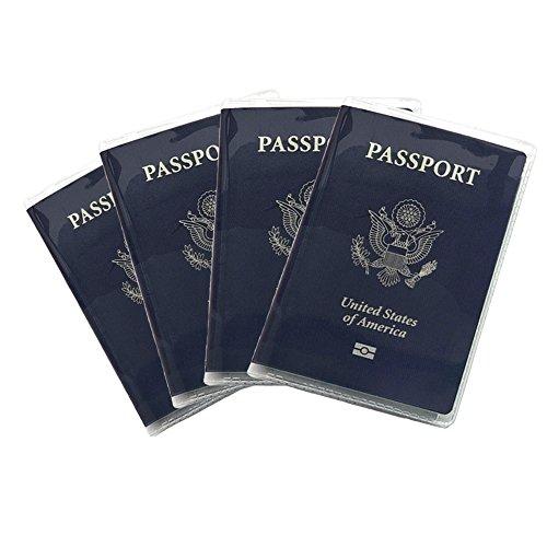 Plastic Transparent Vinyl Travel Passport Cover Passport Protector Holder