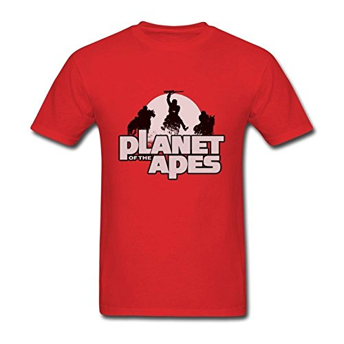 ZhiBo Planet of The Apes Army Designed T-shirt for Men Red XX-Large (Planet Of The Apes Shirt Men)