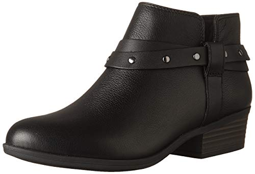 Clarks Women's Addiy Zoie Fashion Boot, Black Leather, 5 M - Women Clark Boots For Shoes