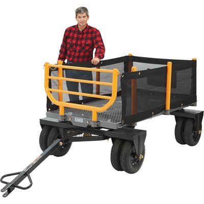Bannon 3-in-1 Convertible Logging Wagon - 1,800-Lb. Capacity, 72in.L x 38in.W (Behind Pull Trailer)