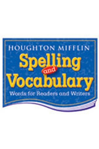 Houghton Mifflin Spelling and Vocabulary: Student Book (consumable) Grade 5 1998