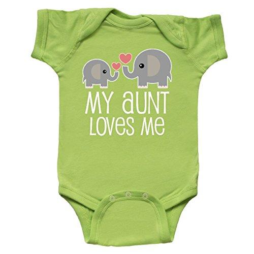 inktastic - My Aunt Loves Me Niece Nephew Infant Creeper Newborn Key Lime 2897d -