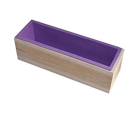 Vendedor UK caja de molde de silicona Jabón Hornear Liner eléctrica de madera Hornear Rectangular Molde Vela Bar: Amazon.es: Hogar
