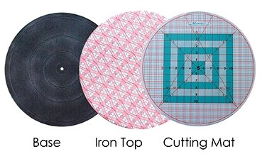 "Martelli Roundabout Set - 16"" Turntable, Cutting Mat & Ironing Pad"