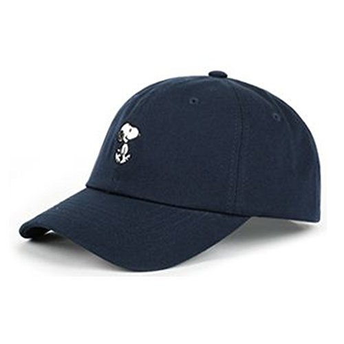 Peanuts Snoopy Baseball (Peanuts Authentic Baseball Trucker Golf Sports Hats snoopy simple BALL CAPs Navy)