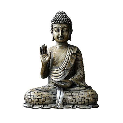 TAO+ 8.5-inch high Resin Buddha Statue Buddha Sakyamuni Statue, Meditation Buddha Sculpture, Buddha Head Decoration Crafts