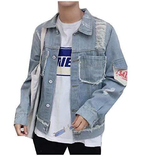 4 Mens Vitryst Jeans Outwear Giacca Davanti Della Giù Girano Tasca Pulsante Di qPAgZSqUw
