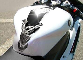 KIT ADESIVI in gel 3D per MOTO compatibili con YAMAHA YZF R1 2004-2006 Carbon Look con finiture bianche