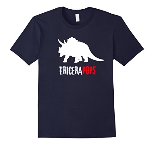 mens-tricerapops-fun-fathers-day-tshirt-father-pop-gift-xl-navy