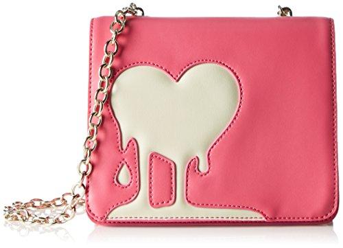Love Moschino JC4095, Borse a Tracolla Donna, 7x16x19 cm (B x H x T) Multicolore (Pink/Ivory)