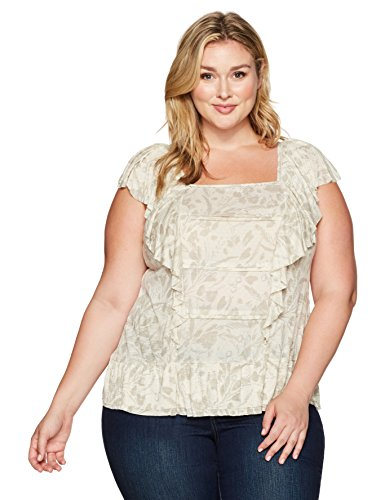 Lucky-Brand-Womens-Plus-Size-Woven-Mix-Ruffle-Tank-Top