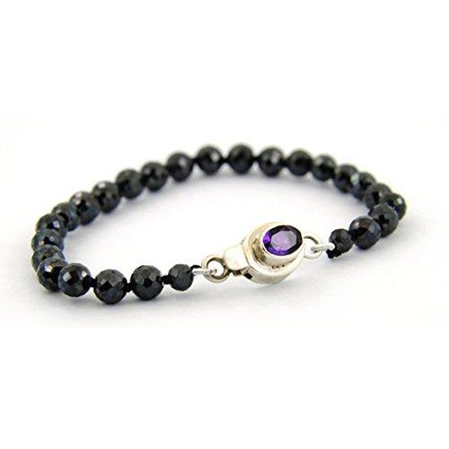 Barishh Elegant Black Diamond Bracelet 40 Cts. 4 mm - 5 mm.Certified.Beautiful by Barishh