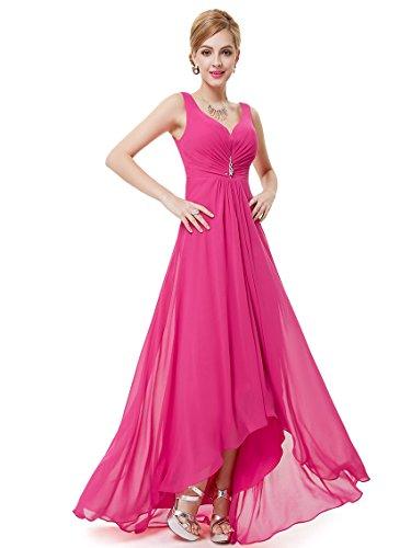 Diamants V Chaud de la Rose poitrine Soire col synthtiques 09983 Robe Double Ever devant Pretty UXCn06q0