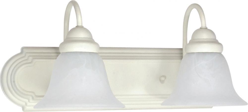 Nuvo Gothamシャンデリア 2-Light 60/332 1 B002OMBYFC Textured White / Alabaster Glass 2ライト バニティー Textured White / Alabaster Glass