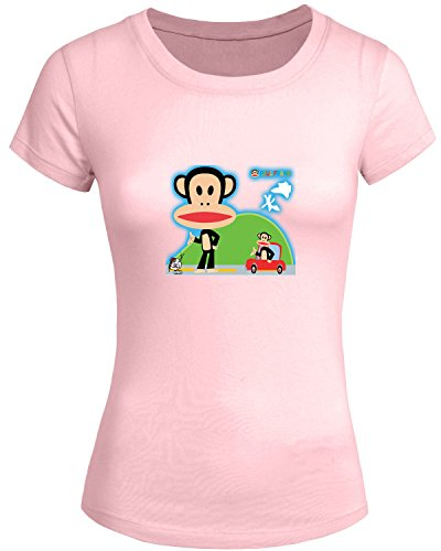 Paul Frank Monkey For 2016 Womens Printed Short Sleeve tops t shirts