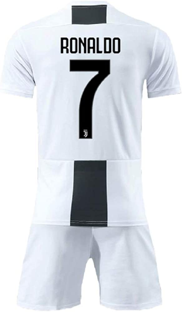sale retailer cc743 cd682 Youth Ronaldo Jerseys Juventus # 7 Kid's Soccer Jersey 2018/2019 Home  Shorts White
