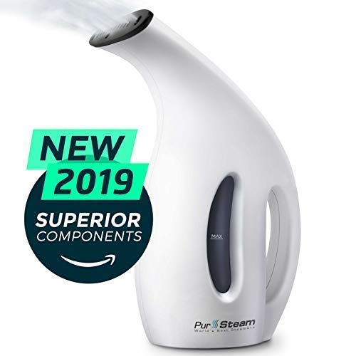 Steamer for Clothes [2019] 220ml 7-in-1 Powerful Multi Use: Clothes Fabric Portable Wrinkle Remover-Clean-Sterilize-Sanitize-Refresh-Treat-Defrost Garment/Home/Kitchen/Bathroom/Car/Travel