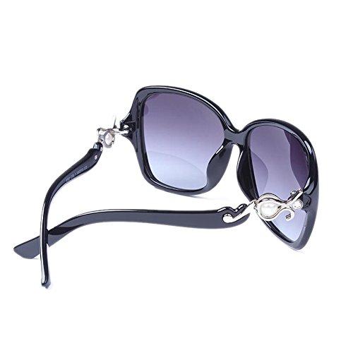 rond Vintage de classiques de Lunettes résine anti Visual S style lunettes Harajuku éblouissement HLMMM Noir extérieure UVA face PC Fashion UVB vintage HD coréen longue visage soleil soleil conduite femmes wFP5nqY