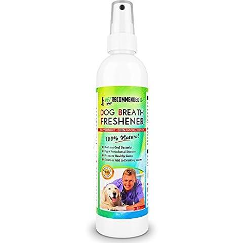 Vet Recommended Dog Breath Freshener and Dental Water Additive Teeth Spray, 8oz / 240ml