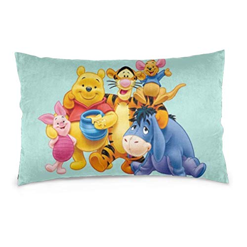 SWDFFG Winnie The Pooh Decorative Throw Cushion Cover for Sofa Bed Household