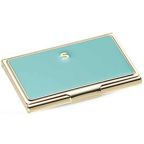 Kate Spade New York Initial Business Card Holders, S, Turquoise