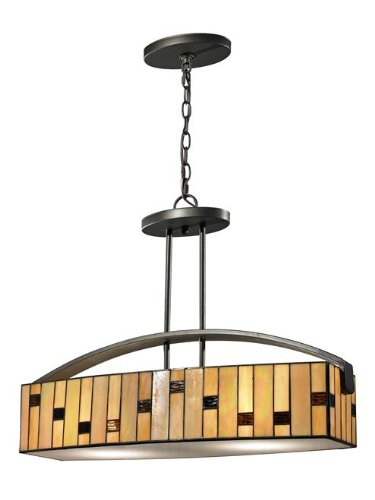 Dale Tiffany TH12407 DT Contempo Mojave Hanging Fixture, Dark Bronze - Dale Tiffany Hanging Pendant Lamp