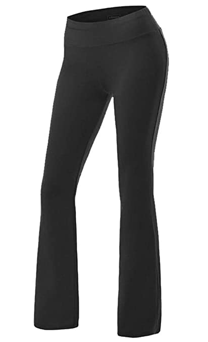 Litthing Pantalones de Yoga Pilates de Cintura Flares Elástico Transpirable Suave Cómodo Deportivo Ideal para Correr Ejercicio Aeróbico Running Paseo ...