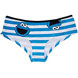Sesame Street Me Want Cookies Hipster in White. XS-XL.