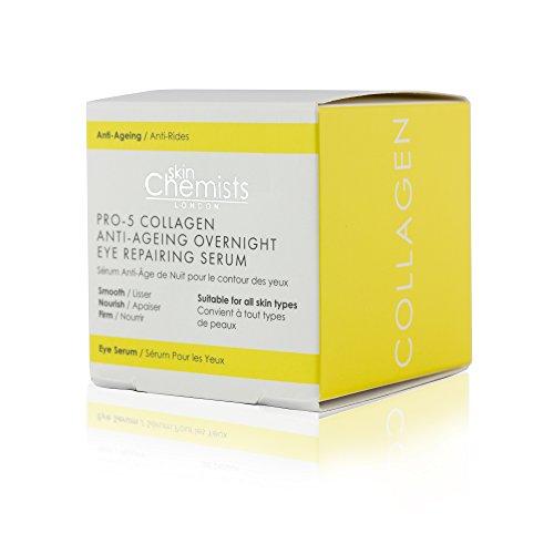 skinChemists Collagen Anti-Ageing Overnight Eye Repairing Serum - 0.34oz