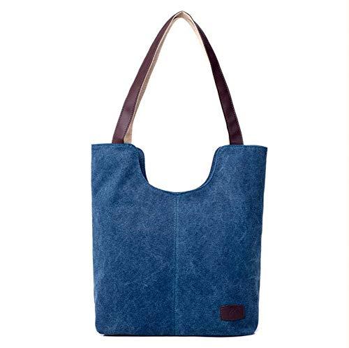 el oscuro Fashion Retro Unisex Talla Celeste azul Adulto Bolsa Hombro única Lona de para WEIZHE Azul 5qZYqdwC