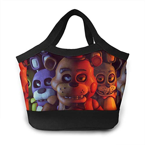 Funny FNAF 3D Printed Lunch Bag Kids Adult Large Capacity Bento Box Cooler Insulation Shopping Bags]()