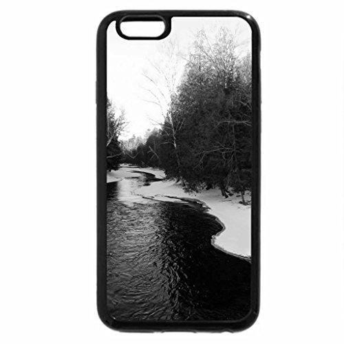 iPhone 6S Plus Case, iPhone 6 Plus Case (Black & White) - Snowy Crowe River
