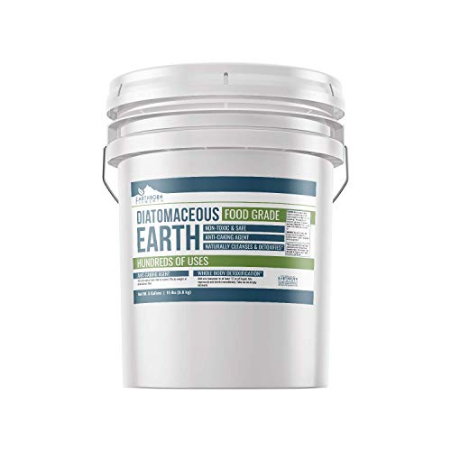 Earthborn Elements Diatomaceous Earth (5 Gallon), Resealable Bucket, Highest Quality, FCC Food...