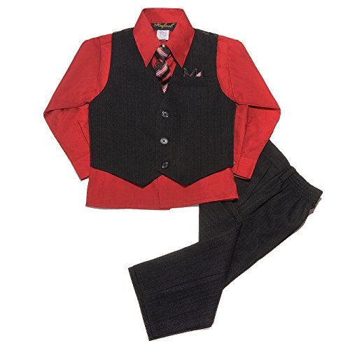 Red 3 Piece Suit - 6