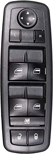 APDTY 138543 Master Power Window Door Lock & Mirror Adjust Switch Fits Front Left 09-10 Dodge Journey 07-11 Nitro 08-12 Jeep Liberty (Models w/Driver Front Auto Button; Without Power Fold Mirrors)