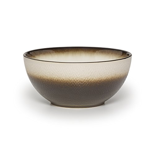 "Pfaltzgraff Eclipse Stoneware Embossed Vegetable Bowl with Metallic Finish, 9"", Bronze"