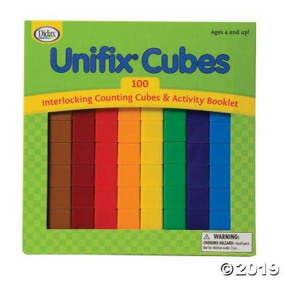 Fun Express Unifix Cubes - Set of 100 - 100 Pieces - Educational and Learning Activities for Kids: Toys & Games