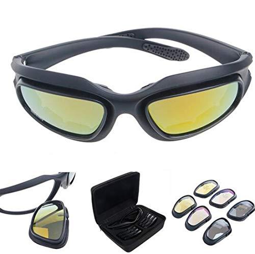 Polarisiert Fahren Reiten Linse Sonnenbrille mit 4 Objektiv für Motorrad Fahrrad Outdoor-Aktivität Sport Jagd Militär