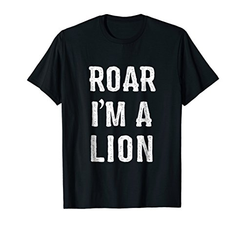 Mens I'm a Lion Halloween Costume T Shirt Large Black