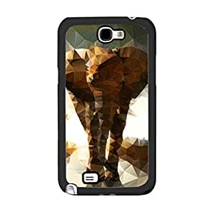 Protective Animal Pictures Print High Impact Cool Elephant Design Personalized Case Cover for Samsung Galaxy Note 2 N7100 Phone Cover Skin for Guys (3d elephant)