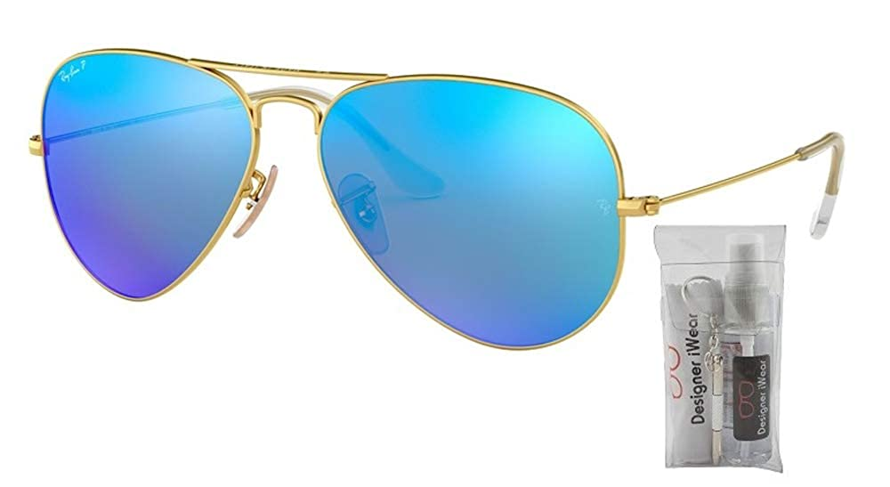 Amazon.com: Ray Ban RB3025 AVIATOR Gafas de sol polarizadas ...