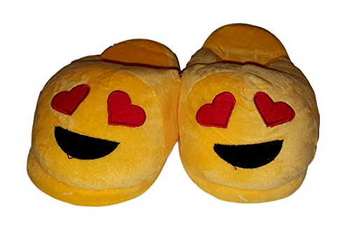 Emoji Plush Sized Love Adult Slipper In 4BSTq