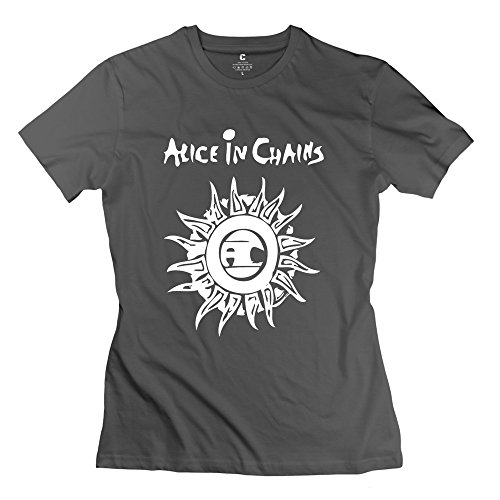 XY-TEE Women's T-shirt Alice In Chains Unplugged DeepHeather Size (Alice In Chains Halloween Shirt)