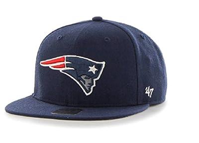 New England Patriots NFL 47 Brand Fulton Captain Flat Strapback Hat Cap Adult Adjustable by 47