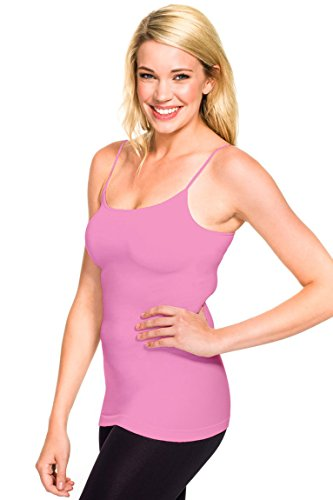 (skinnytees the diet you wear Women's Skinny Cami, Bubble Gum, One Size)