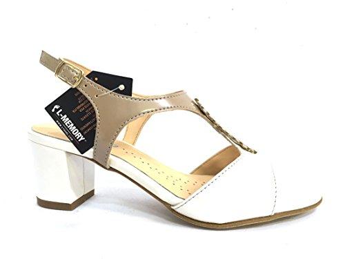 K95337V BIANCO Scarpa donna Melluso sandalo tacco pelle made in italy tzZPs
