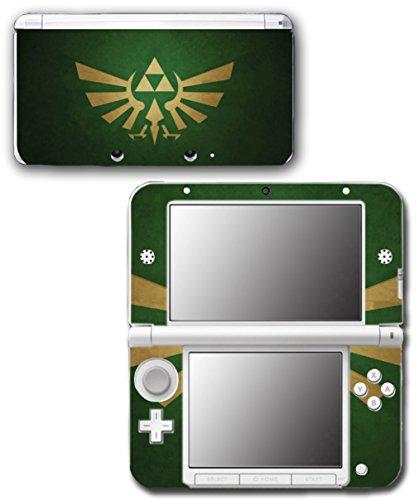 Legend of Zelda Forest Green Gold Video Game Vinyl Decal Skin Sticker Cover for Original Nintendo 3DS XL - Game Gold Zelda