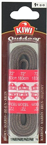 Kiwi Outdoor Leather Shoe Laces, 72-inch, Dark Brown, 48-Pack