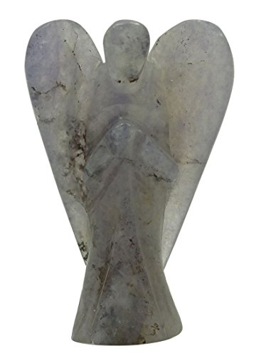 HARMONIZE Lolite Stone Purple Carved Angel Reiki Healing Crystal Psychic Gift Spiritual Gift Guardian