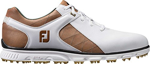 FootJoy Mens Pro SL Golf Shoe White/Taupe